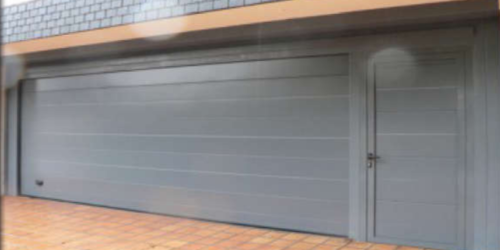 Panel puerta seccional acanalada horizontal